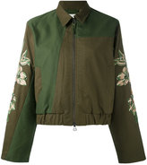 MHI embroidered sleeve jacket - women - Cotton - 12
