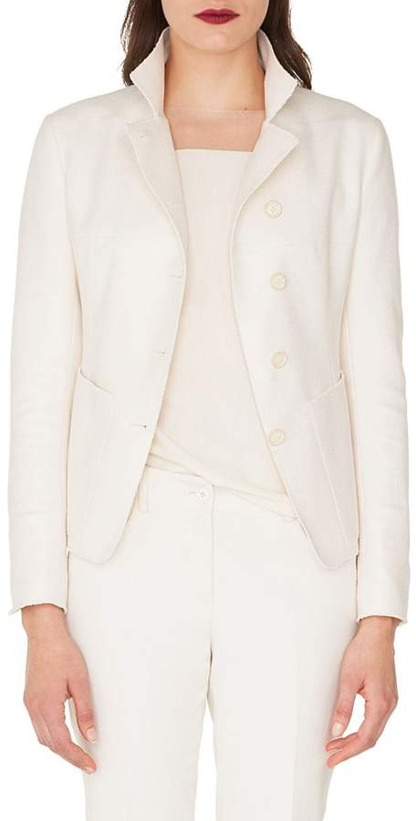 Akris Panama Patch Silk & Cashmere Jacket