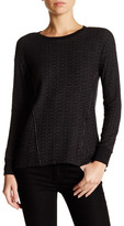 Michael Stars Asymmetrical Faux Leather Trim Sweatshirt
