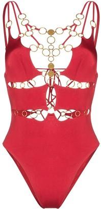 Agent Provocateur Davine ring-embellished swimsuit