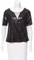 Ella Moss Sequined Short Sleeve Top w/ Tags