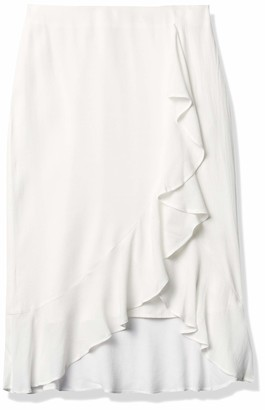 Cupcakes And Cashmere Women's Roxanne Natural Waist Skirt with Ruffle Detail