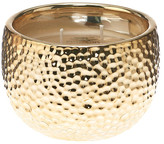 DECO FLAIR HOME Small Hammered Metallic Candle - 9.5 oz.