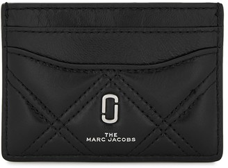Marc Jacobs Black quilted leather card holder