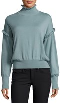 Rebecca Taylor Long-Sleeve Merino Wool Pullover Sweater