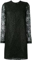 MSGM lace long sleeve mini dress - women - Polyamide/Viscose - 40