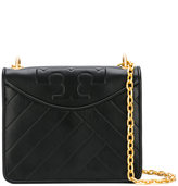 Tory Burch diagonal stitch shoulder bag - women - Leather/Metal (Other) - One Size