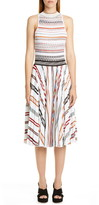 Missoni Stripe Pleat Sleeveless Knit Dress