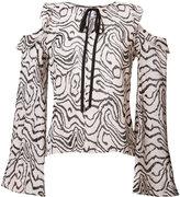 Derek Lam 10 Crosby sheer cut-detail blouse - women - Silk - 0