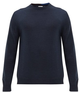 Paul Smith Crew Neck Merino Wool Sweater - Mens - Navy