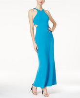 Calvin Klein Cutout Crepe Gown