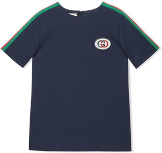 Gucci Kids Web trim T-shirt dress