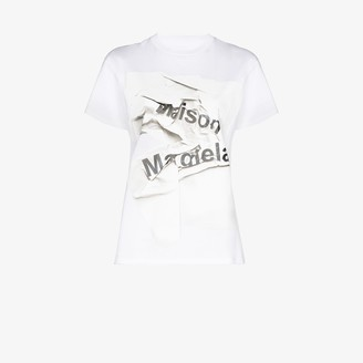 Maison Margiela crumpled logo cotton T-shirt