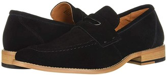 Stacy Adams Colfax Moc-Toe Slip-On Penny Loafer (Black Suede) Men's Shoes