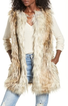BB Dakota Fur-Ther-Ado Faux Fur Vest