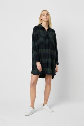 French Connection Lauretta Flannel Check Shirt Dress