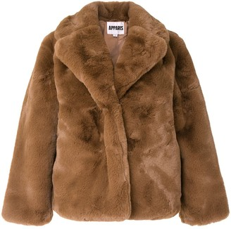 Apparis Manon short faux-fur coat