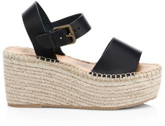 Soludos Minorca Leather High Platform Espadrille Sandals