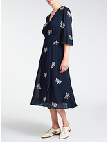 Somerset by Alice Temperley Embroidered Dress, Navy