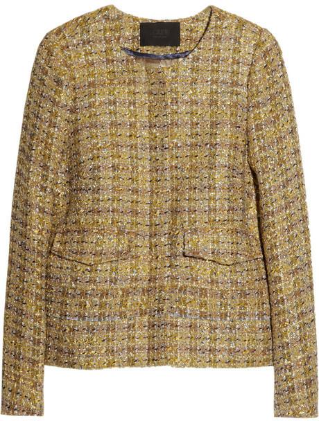 J.Crew Lady metallic wool-blend tweed jacket