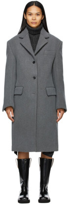 we11done Grey Wool Single Coat