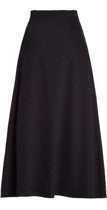 Saks Potts Cobra Logo-Print Jersey A-Line Midi Skirt
