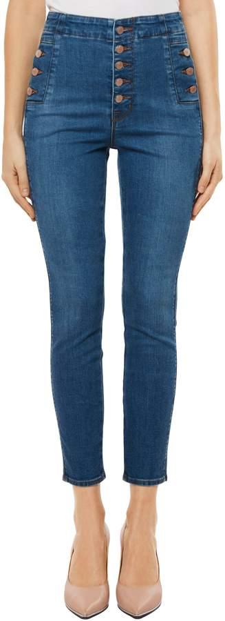 J Brand Natasha Sky High High Waist Crop Skinny Jeans