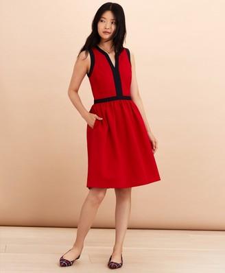 Brooks Brothers Ponte Knit A-Line Dress