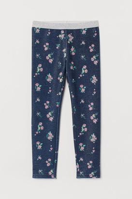 H&M Glittery leggings
