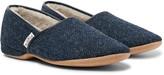 Derek Rose - Crawford Shearling-lined Harris Tweed Slippers