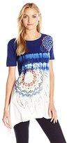 Desigual Women's Knitted T-Shirt Short Sleeve 49