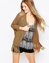 Vero Moda Open Knit Cardigan With Tassel Detail