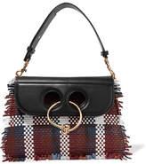 J.W.Anderson Pierce Medium Woven Leather Shoulder Bag - Black