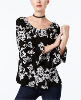 INC International Concepts Embroidered Peasant Top, Created for Macy's