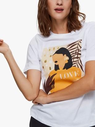 Selected Love T-Shirt, White/Multi