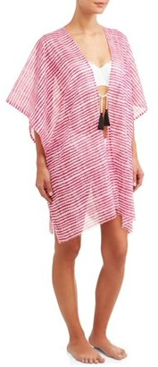Eliza J May Rose Women's tie front swim suit cover-up