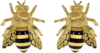 Verdura 18kt yellow gold Honeybee stud earrings
