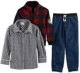 Nannette Toddler Boy 3-pc. Plaid Sweater