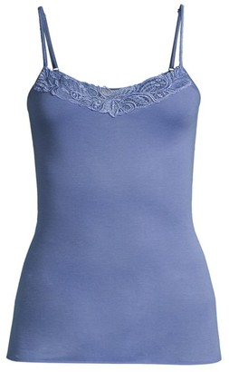 Hanro Madlen Embroidery-Trimmed Mercerized Cotton Camisole