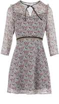Morgan Flower Print Chiffon And Lace Dress