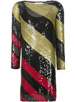 Sonia Rykiel sequins striped short dress