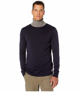 Scotch & Soda Men's Turtleneck Pullover with Contrast Collar Vest