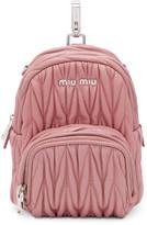 Miu Miu Pink Mini Matelassé Backpack