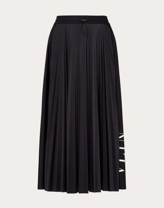 Valentino Vltn Jersey Skirt Women Black Elastane 20% XS