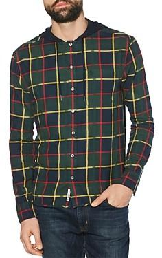 Original Penguin Plaid Flannel Hooded Regular Fit Shirt