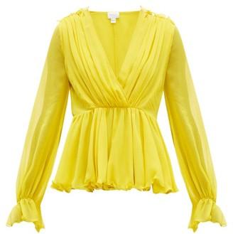 Giambattista Valli Ruffled Silk Blouse - Womens - Yellow