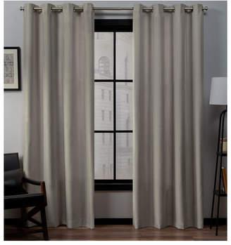 """Exclusive Home Loha Linen Grommet Top Window Curtain Panel Pair, 54"""" x 84"""""""