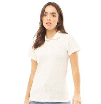 Crew Clothing Womens Heart Exmouth Polo White