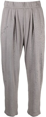 Raquel Allegra Distressed Effect Cropped Trousers