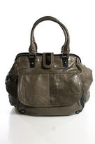 Topshop Brown Leather Tote Handbag Size Extra Large